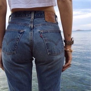 Levi's 501 vintage high waisted button fly jeans